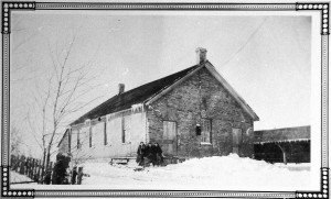 Built in 1896, this Floradale Mennonite Church was north of the village.