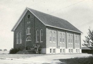 Floradale Mennonite Church as it appeared in 1936